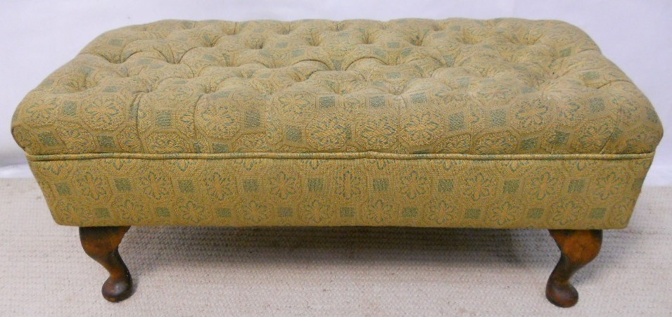Footstool Upholstered in Liberty Fabric with Button Top : footstool upholstered in liberty fabric with button top 2 2609 p from www.harrisonantiquefurniture.co.uk size 955 x 451 jpeg 177kB